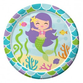 Mermaid Friends Luncheon Plates 18cm