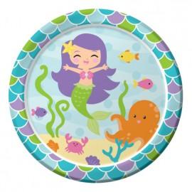 Mermaid Friends Dinner Plates Round 23cm