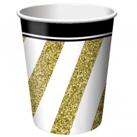 Black & Gold Cups Paper 266ml