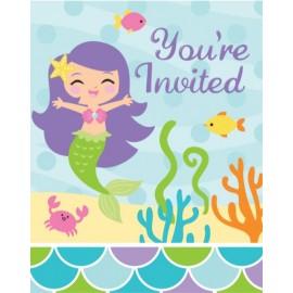 Mermaid Friends Invitations Foldover