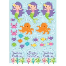 Mermaid Friends Sticker Sheets Happy Birthday