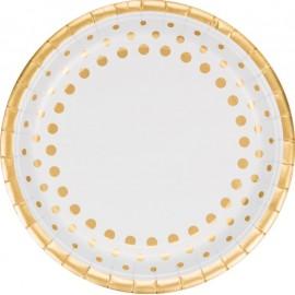 Sparkle & Shine Gold Dinner Plates Round
