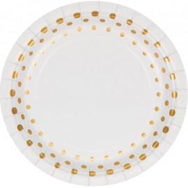 Sparkle & Shine Gold Luncheon Plates Round