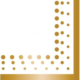 Sparkle & Shine Gold Luncheon Napkins