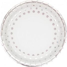 Sparkle & Shine Silver Dinner Plates Round