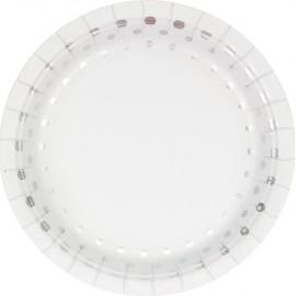 Sparkle & Shine Silver Luncheon Plates Round