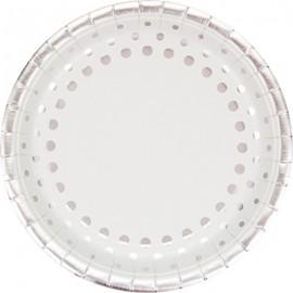 Sparkle & Shine Silver Banquet Plates Round