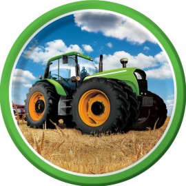 Tractor Time Dinner Plates Round 23cm
