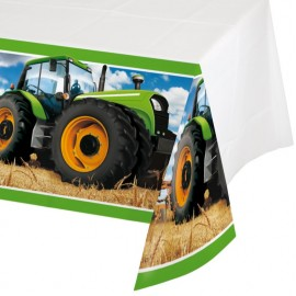 Tractor Time Tablecover Plastic