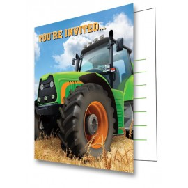 Tractor Time Invitations Foldover You're Invited