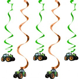 Tractor Time Dizzy Danglers Hanging Swirls
