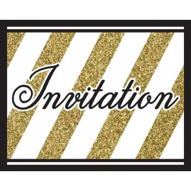 Black & Gold Invitations Foldover