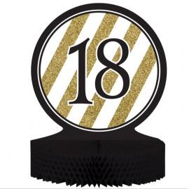 Black & Gold 18 Centrepiece Honeycomb