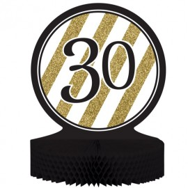 Black & Gold 30 Centrepiece Honeycomb