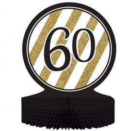 Black & Gold 60 Centrepiece Honeycomb