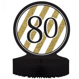 Black & Gold 80 Centrepiece Honeycomb
