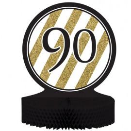 Black & Gold 90 Centrepiece Honeycomb