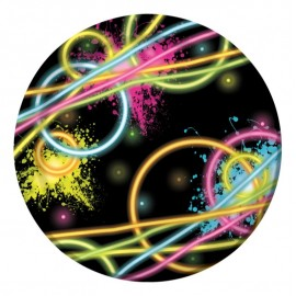 Glow Party Luncheon Plates Round 18cm