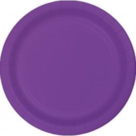 Amethyst Purple Banquet Plates Paper 26cm