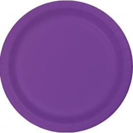 Amethyst Purple Luncheon Plates Paper 18cm
