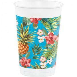 Aloha Tumblers Cups Plastic Luau