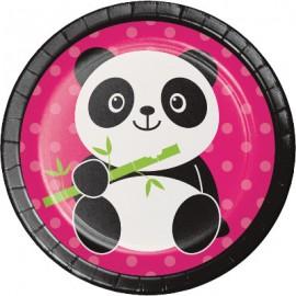Panda - Monium Luncheon Plates