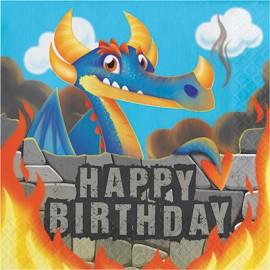 Dragons Luncheon Napkins Happy Birthday