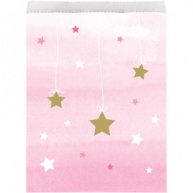 One Little Star Girl Treat Bags Paper
