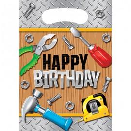 Handyman Tools Loot Bags Happy Birthday