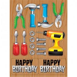 Handyman Tools Stickers Happy Birthday
