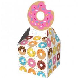Donut Time Favor Treat Boxes Cardboard