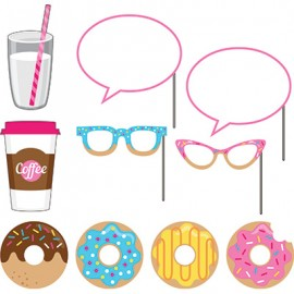 Donut Time Photo Booth Props Assorted Sizes