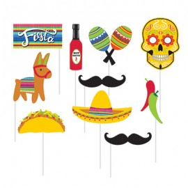 Serape Photo Booth Props Fiesta Assorted Sizes