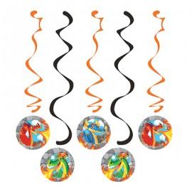 Dragons Dizzy Danglers Hanging Swirls