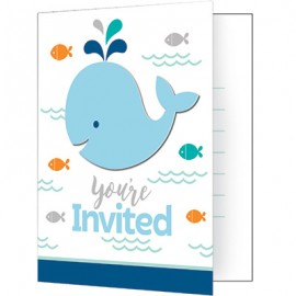 Lil Spout Blue Invitations You're Invited