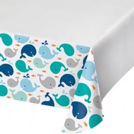 Lil Spout Blue Tablecover Border Print Plastic