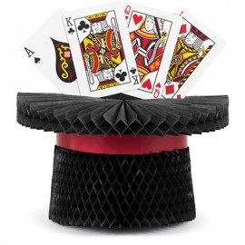 Centrepiece Magic Party Top Hat & Cards Honeycomb