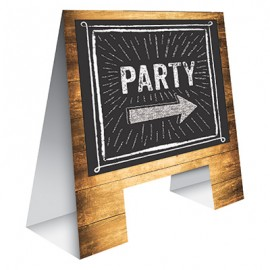 Chalkboard Easel Timber Look & 1 Piece of Chalk