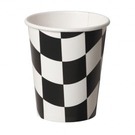 Black & White Checkered Cups Hot/Cold