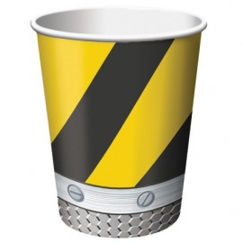 Construction Birthday Zone Cups Hot/Cold