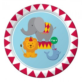 Circus Time Lunch Plates Paper