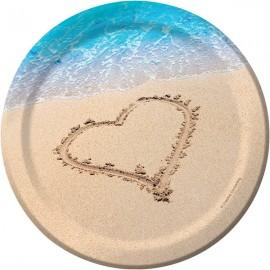 Beach Love Luncheon Plates