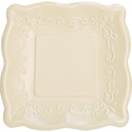 Elise Pottery Luncheon Plates Linen Square