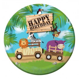 Safari Adventure Dinner Plates Happy Birthday