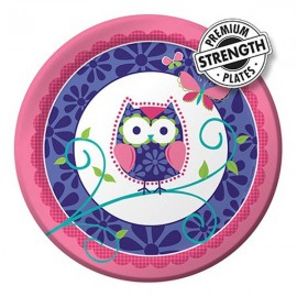 Owl Pal Birthday Dinner Plates