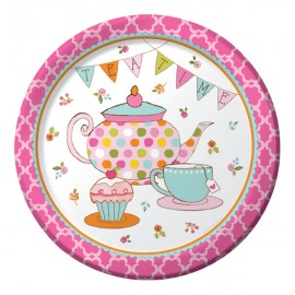 Tea Time Dinner Plates Paper