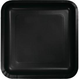 Black Velvet Square Luncheon Plates Paper 18cm