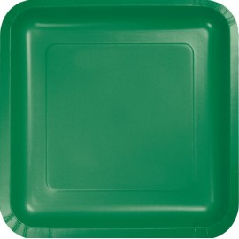 Emerald Green Square Luncheon Plates 18cm