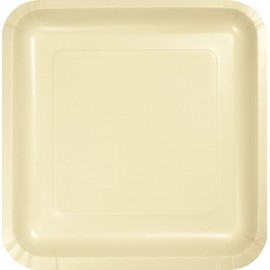 Ivory Square Luncheon Plates Paper 18cm