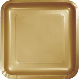 Glittering Gold Square Luncheon Plates 18cm